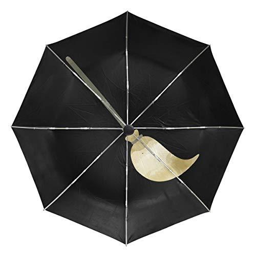 MONTOJ Magic Besen Sonne & Regen Reiseschirm UV-Schutz mit automatischem Öffnen Knopf