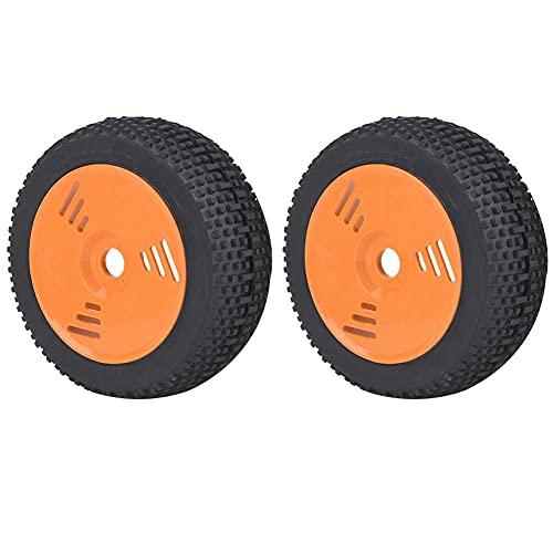 SSPKTY Neumáticos De Goma De Los Neumáticos del Cubo De La Rueda De La Ronda De Actualización para El Camión De Curso Corto 1/8 RC Car, (Naranja)