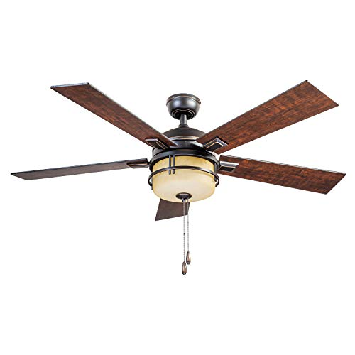 Prominence Home 80136-01 Zinnia Ceiling Fan, 52, Oil Rubbed...