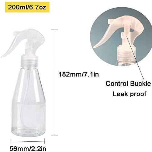 MCOMCE Misting Spray Bottle, 3 PCS Leak-Proof Spray Bottle for Hair, Clear Hair Spray Bottle for Essential Oils, Aromatherapy, 200 ML Empty Spray Bottle for Travel, Cleaning, Gardening, Skin Care