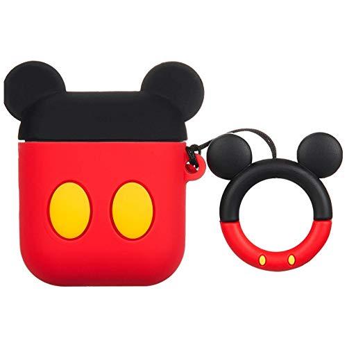 Besoar Dots Mickey für Airpod 1/2 Hülle, Cartoon Cute Fashion Cool Silikon Design Character Cover für Airpods, Einzigartig Stilvoll Kawaii Funny Fun Schutzhülle Mädchen Frauen Girly Cases Air Pods 2&1