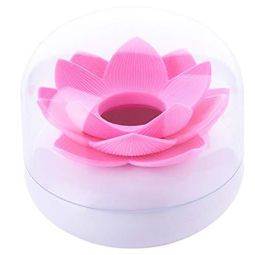 Da.Wa Wattestaebchen Lotus Blumen Zahnstocherspender Cotton Swab Box Halter Aufbewahrung,8x8cm