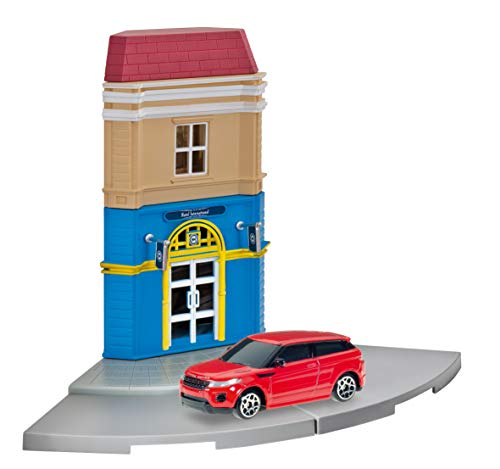 Herpa 800099 Fahrzeug City: Hotelgebäude mit Porsche zum Basteln, Spielen und als Geschenk, Mehrfarbig