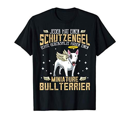 Miniature Bullterrier mit Schutzengel Spruch T-Shirt