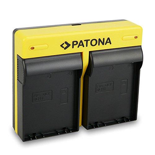 PATONA Dual Ladegerät für blh-1 Akkus kompatibel mit Olympus OMD E-M1 Mark 2