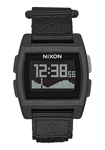 Nixon Herren Digital Uhr mit Nylon Armband A1169-001-00