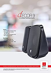 iBall Decor 9 Multimedia Speakers (Black),iBall,Decor 9,iBall speaker,portable speakers,speaker iBall Decor 9,usb speaker
