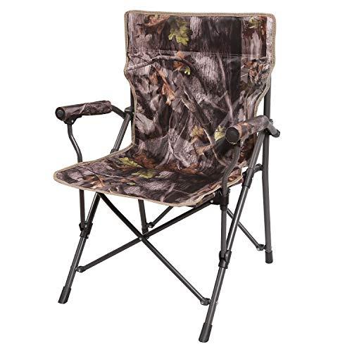 REDCAMP Campingstuhl für Erwachsene, strapazierfähiger Camouflage-Klappstuhl für Jagd, Angeln, Outdoor, Picknick, Strand