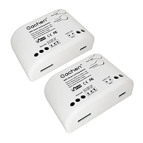 Interruptor de luz WiFi Inteligente, Smart Control Remoto de Interruptor, Módulo de Relé de Módulo de Interruptor para Electrodomésticos, Compatible con la Aplicación Alexa/Google Home/IFTTT/Ewelink