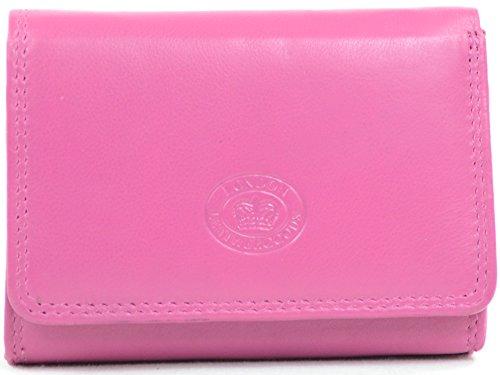 Damengeldbörse aus Leder mit besonderer Ausstattung - Pink