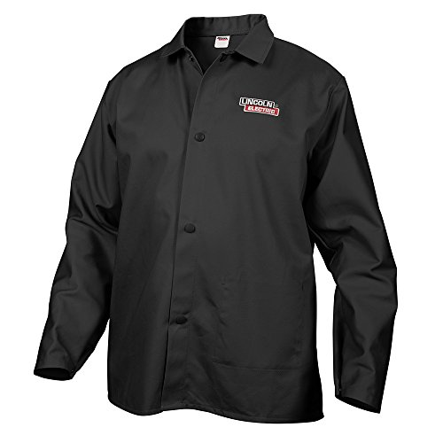 Lincoln Electric KH808L Black Large Flame-Resistant Cloth Welding Jacket