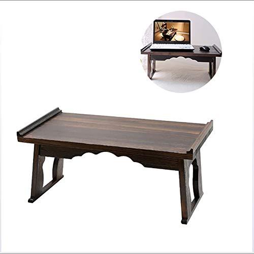 Japanse-Style High-end laptop computer tafel, massief houten Computer lessenaar, opvouwbaar, gebruikt voor het opslaan Boeken, documenten ontbijt op bed