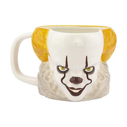 414vLGvNuPL. SS500 Bebéte tu bebida favorita en esta terrorifica taza del payaso bailarín Regalo original y divertido para seguidores de pennywise Fabricada en cerámica, con una capacidad de 330 ml
