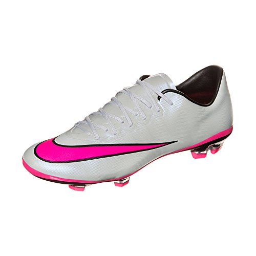 Nike Youth Mercurial Vapor X Firm Ground [Wolf Grey/Black/Hyper Pink] (6Y)