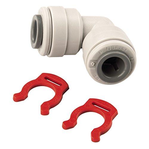 Xavax verbindingsstuk (voor kunststof buizen 1/4 inch, ideaal voor zijdeby-side koelkasten) gehoekt