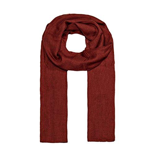 MANUMAR Schal für Damen einfarbig   Hals-Tuch in braun als perfektes Herbst Winter Accessoire   Klassischer Damen-Schal   Stola   Mode-Schal   Geschenkidee für Frauen und Mädchen