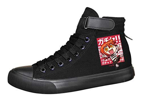 WANHONGYUE Fate Zero Fate Stay Night Fate Grand Order Anime Sneakers Zapatos de Cordones Plimsolls Zapatillas Deportivas para Hombre Mujer 41.5 EU Negro 10