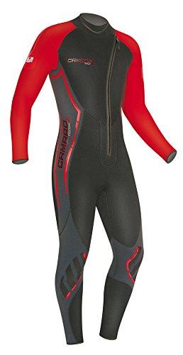 Camaro Men's Titanium Overall 5mm Wetsuits, Black/Red, Large/52