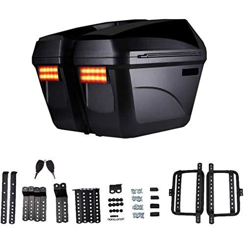 Motorfiets Universele Achterste Top Box Roller Scooter Case Koffer Met LED Licht En Waterdichte Achterbank Bagage Reisgereedschap Achterzak