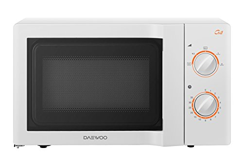 Daewoo KOG-6L67 Forno a Microonde Meccanico Combinato Grill, Bianco, 20 lt