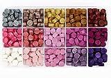 Perlas de Cera de Sellado, Speyang Cuentas de Cera Sellado, Granos de Cera para Sellar, Juego Sellos Cera, Kit de Lacre, 380 Piezas Cera para Sellar Cartas de 15 Colores, Octagonal (Rosa)