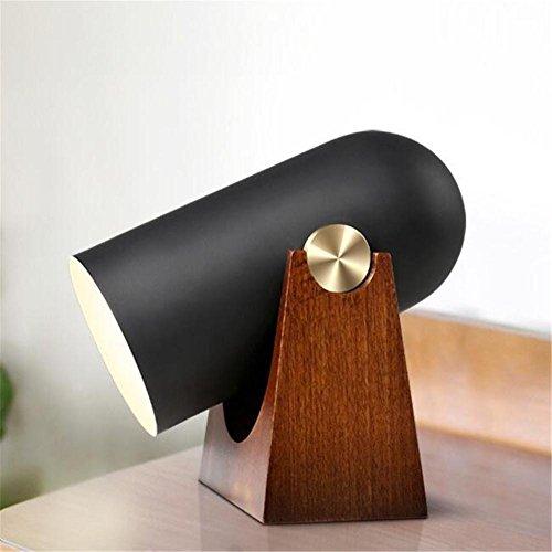 Rétro Lampe de Bureau E27 Lampe de chevet Nordic design créatif Mignon En Aluminium Fort Détachable Lampe de Table En Bois Avec Bouton Interrupteur Pour Chambre Salon Éclairage Intérieur
