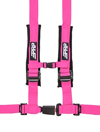 4 Point Harness with 2 inch Belts Pink with Auto Latch By PRP SBAuto2P