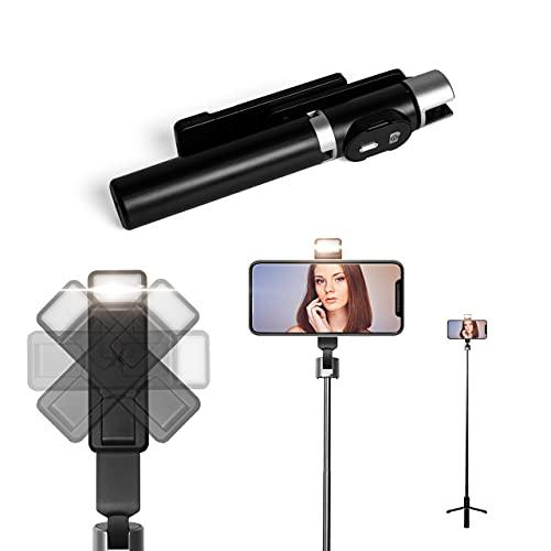 NEOBASE | Bastone Selfie | Selfie Stick | Stick Asta Treppiede | Cavalletto Smartphone | Treppiedi Cellulare | Bastone Telescopico In Acciaio Con Supporto Telecomando Bluetooth Per Selfie