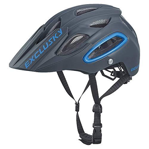 Exclusky Casco Bici Montagna per Ciclismo Uomo e Donne Taglia 54-58cm