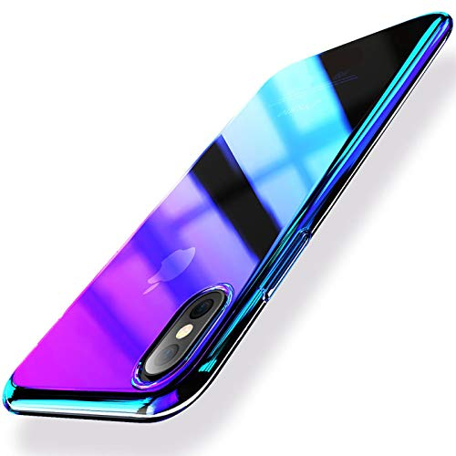 Verco Farbwechsel Hülle für Xiaomi Mi Mix 3 Hülle, Schutzhülle Handy Cover mit Farbverlauf Twilight Schale, Violett
