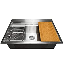 Best Drop in Kitchen Sink with Drainboard