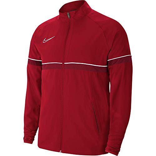 NIKE Dri-FIT Academy Chaqueta Deportiva, University Red/White/Gym Red/White, L para Hombre