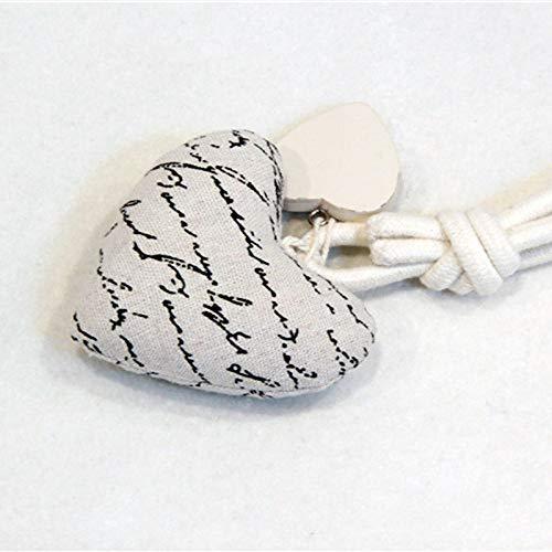 AUBERSIT Artesanía de Bricolaje 1 Pieza Encantador Lazo de Cortina magnética en Forma de corazón, Cuerda de Lino de algodón Natural Cortina de Ventana Hebilla decoración de Soporte de Cortinas,Gris