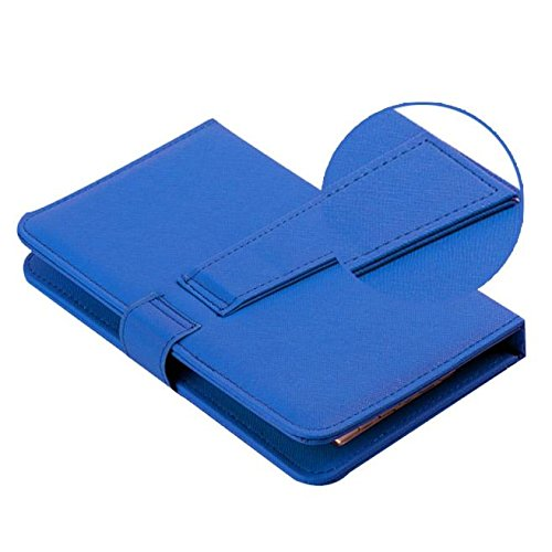 Tonsee General Wired Keyboard Flip Holster Case for Andriod Mobile Phone 4.2''-6.8'',Blau
