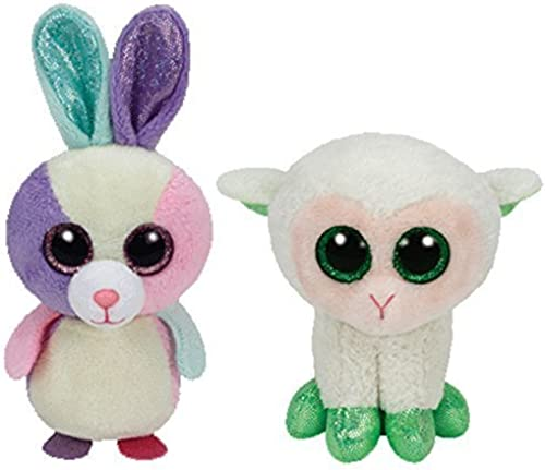 Set of Bloom & Lala Basket Beanies 2015 Approximately 3 Inches by Ty Beanie Boos