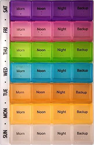 PuTwo pillerpåse 7 dagar pillerlåda tablettask med 28 fack piller organisering vecka tablettask läkemedel förvaring veckovis medicinförpackning