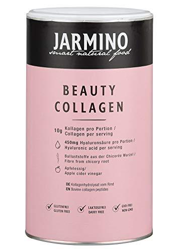 Kollagen und Hyaluronsäure, Vitamin C, Biotin, Zink, Inulin | Kollagen Hydrolysat Peptide Type I, II und III | Beauty Kollagen Pulver | Geschmacksneutral | 450 Gramm