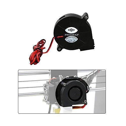 Anet 3D Printer Parts Fan Cooling Blow Radial Fan Cooling 12V DC 50mm Hot End Extruder for RepRap i3 3D Printer Accessories(2ps/set)