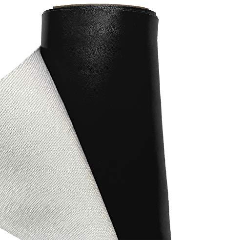 A-Express Cuero de imitación Tela Cuero sintético Vinilo Paño de cuero Material de tela 140cm de ancho - Negro 1 Metro (100cm x 140cm)