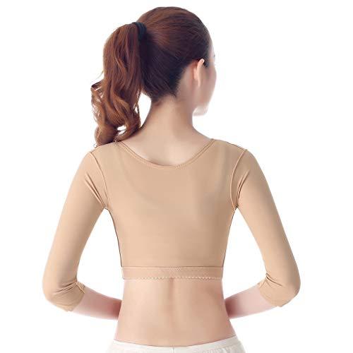 KUWZ Schultergurt Rückenstütze Körperhaltung,Chest Support Humpback Correction Belt,Invisible Belt,Verbesserung der Haltung,Schmerzlinderung (Color : Flesh, Size : S)