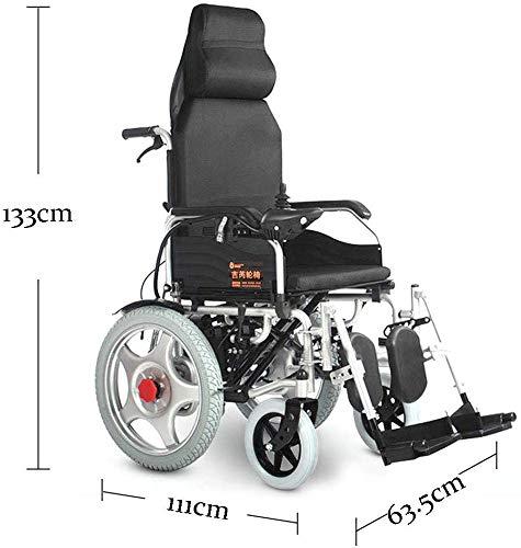 MJ-Brand Elektrorollstuhl Treppensteigen Rollstuhlfahren Leichter, leistungsstarker Rollstuhl mit Zwei Motoren Maximale Zuladung 120 kg (maximale Steigfähigkeit 12 °)