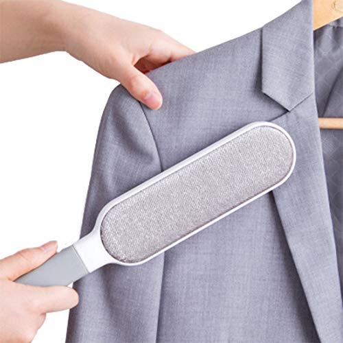 CLEAN LEADER ホコリ取りブラシ 洋服ブラシ 静電除去服ブラシ 毛玉取りおもちゃの毛 ペット ふとん掃除 衣類 ソファーのほこり取り 便利 (大さい)