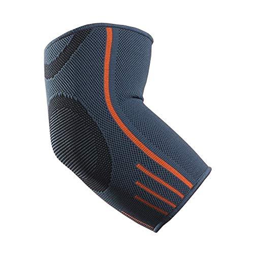 VITTO Ellenbogenbandage - Kompressionsarm für Sehnenentzündung - Arthritis - am besten als Tennisarm Bandage - Golfearm - Gewichtheben (L, Grau)