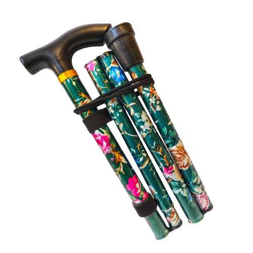 Gehstock, leicht höhenverstellbar, zusammenklappbar, ausziehbar, leicht, flexibel und langlebig, Gehhilfe, Mobilitätshilfe, zusammenklappbarer Gehstock