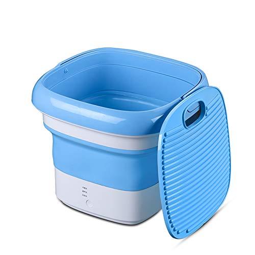 Mini Waschmaschine,Elektrische Kompakt-waschmaschinen,Tragbares Langlebiges Design Waschmaschine Energieeinsparung,Usb-netzstecker Blau