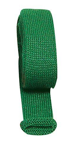 Manchon tricot uni, l 4 cm x L 80 cm Vert transparent
