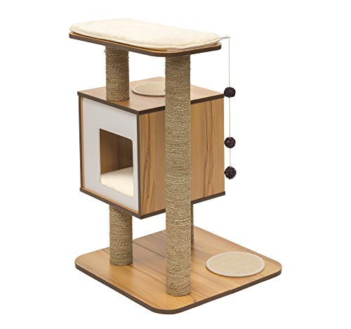 Vesper Cat Tree, Base, Walnut, 52042