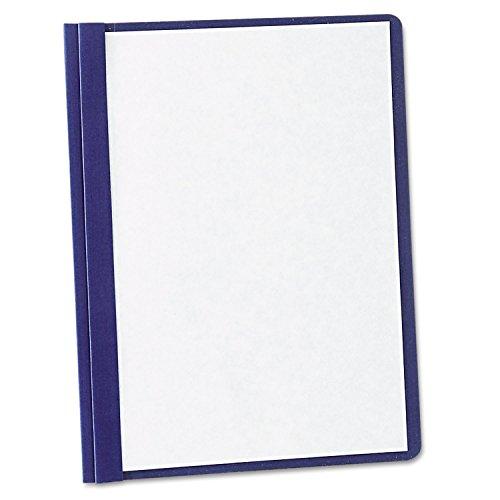Papel Report Cover, Tang Clip, carta, 1/2Capacidad, Claro/Azul, 5/Unidades