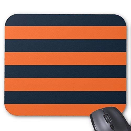 Rechteckige mauspads rugby-streifen in orange und dunkelblauem mauspad