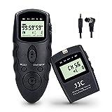 JJC Disparador Remoto Temporizador mandos a Distancia para Nikon D850 D810 D800 D700 D500 D5 D4S D3S D3 D3X D2H D2 D1